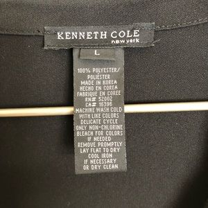 BLACK KENNETH COLE WRAP DRESS